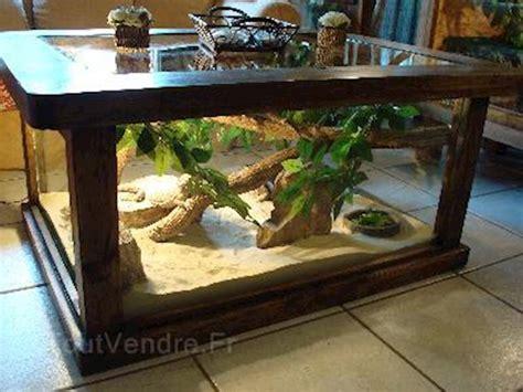 terrarium table table basse terrarium rustique pour reptiles 1 diy