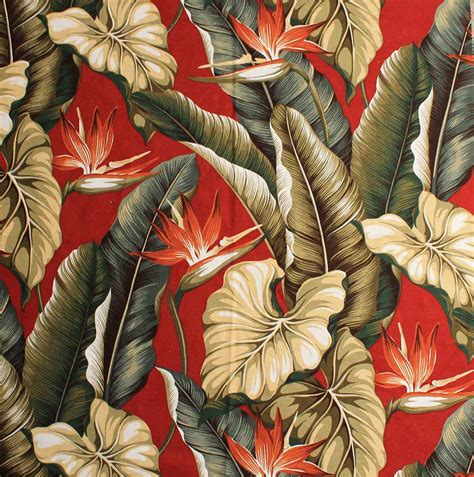 Large Floral Print Upholstery Fabric 11 Tropical Leaf Print Barkcloth Fabrics In 31 Colorways