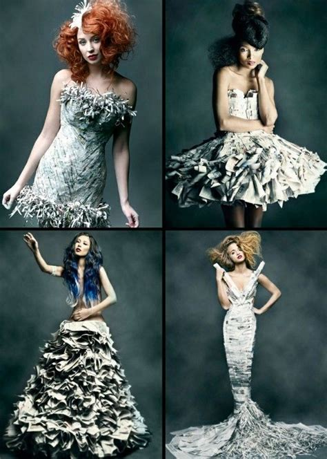 How To Make A Dress Out Of Wrapping Paper - 1000 ideas about recycled fashion on recycled