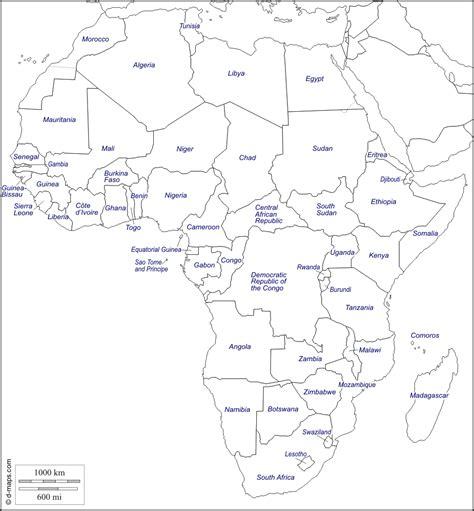 d maps africa mapa de africa nombres
