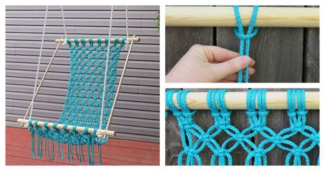 How To Make A Macrame - how to make a beautiful macrame hammock chair