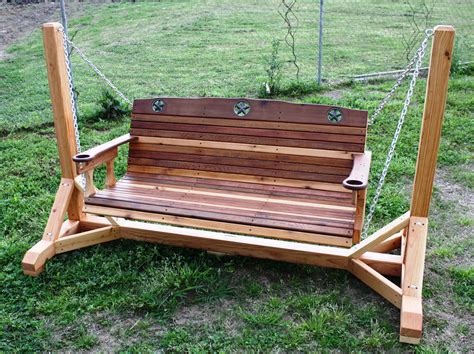 wooden bench swing plans cedar creek woodshop porch swing patio swing picnic