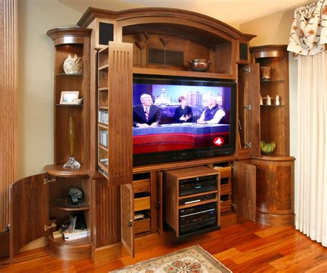 Houzz Living Room Tv Units Tv And Media Wall Unit Traditional Living Room Other