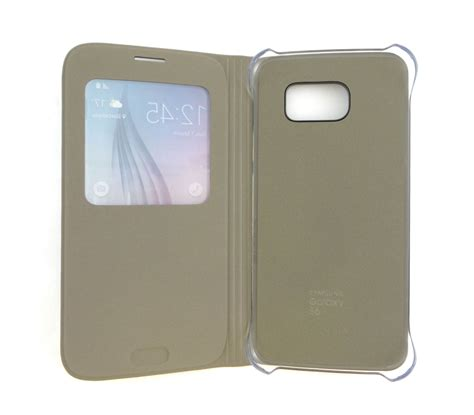 Flip Cover Samsung S6 Saphire samsung galaxy s6 s view flip cover folio gold oem s6sviewgold ebay