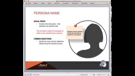 How To Create Buyer Personas For Agile Marketing Powerpoint Template Youtube Persona Template Powerpoint