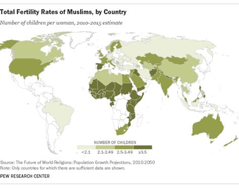 10 facts europes muslim minorities the globalist total fertility rates of muslims by country pew
