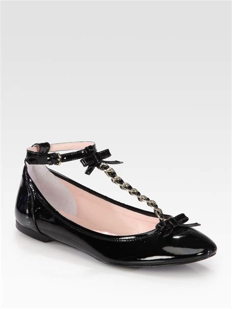 t shoes flats valentino patent leather bow t ballet flats in