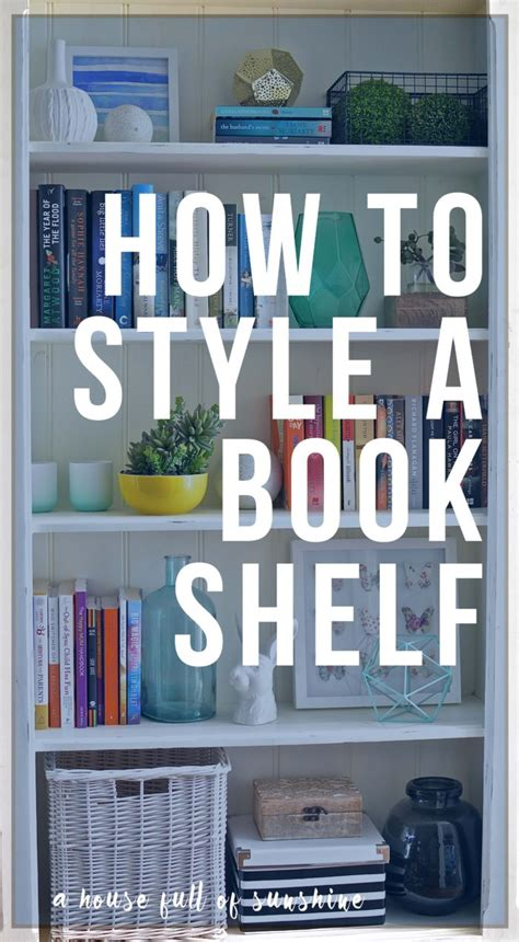 how to style a bookshelf and a free decorating course for
