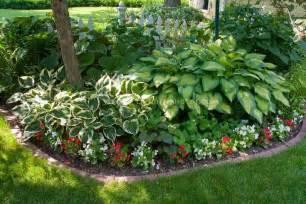 shade garden foliage plants and brick edging on pinterest
