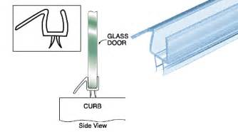 clear shower door bottom sweep crl clear shower door sweeps w drip rail for 1 2 quot glass