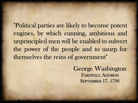 washington s farewell the founding s warning to future generations books listen to your quot political are likely to