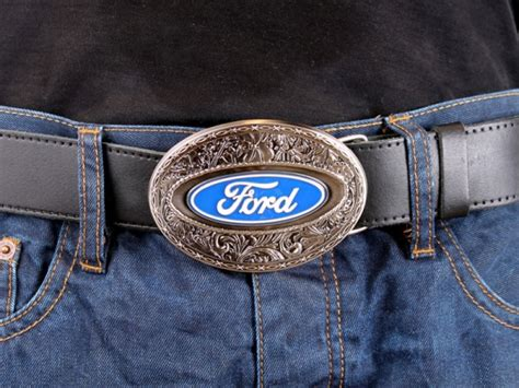Handmade Belts And Buckles - ford oval belt buckle