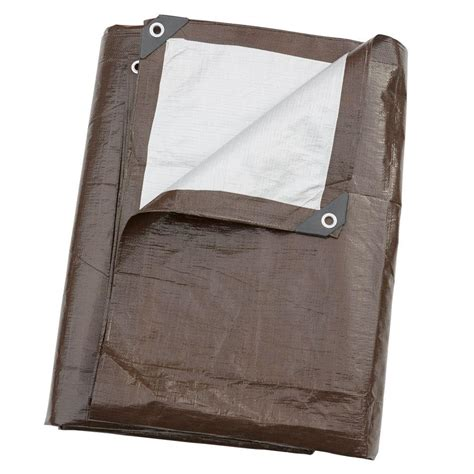 tafco products 10 ft x 20 ft heavy duty brown silver