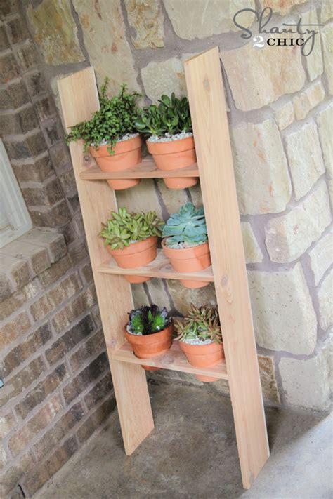 ladder planter shanty  chic