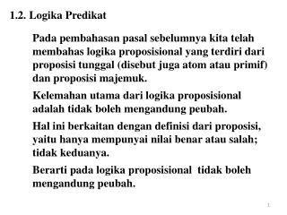 Kalkulus Predikat ppt kalkulus predikat powerpoint presentation id 884589