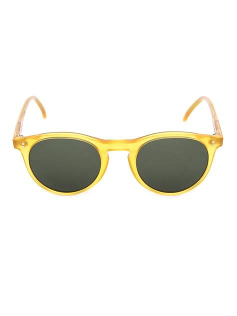 yellow sunglasses lyst oliver spencer sid round acetate sunglasses in
