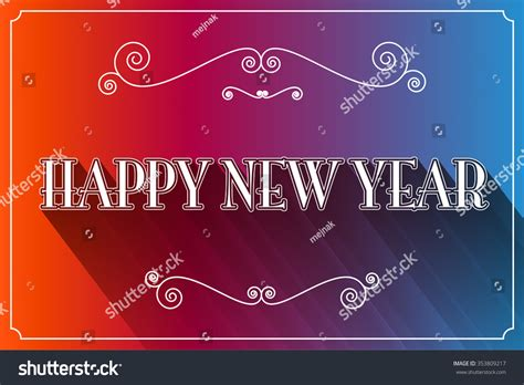 happy new year slogan illustration stock illustration