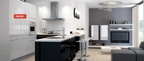 cuisine 駲uip馥 en solde cuisine equipee en solde maison moderne