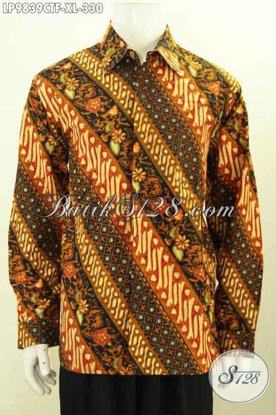 jual hem batik fashion lengan panjang model