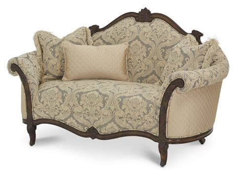 victorian loveseat love seat victoria palace by aico aico living room furniture