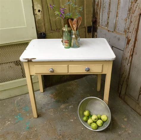 farmhouse kitchen table with drawers yellow enamel top table small vintage farmhouse kitchen table with two drawers distressed