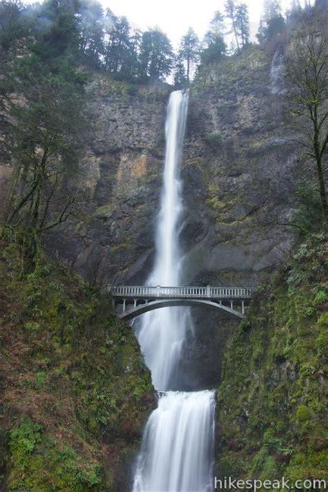 multnomah falls trail map multnomah falls trail oregon hikespeak