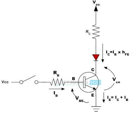 working of transistor as a switch npn and pnp transistors