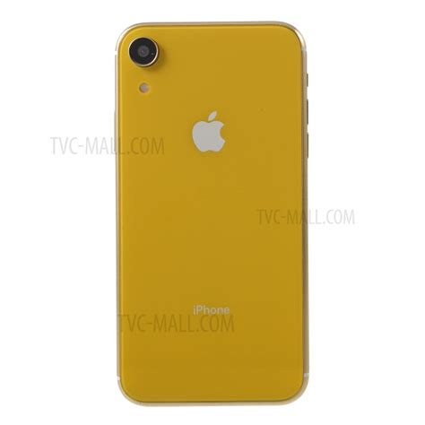 1 1 scale non working black screen display dummy phone model for iphone xr 6 1 inch yellow tvc