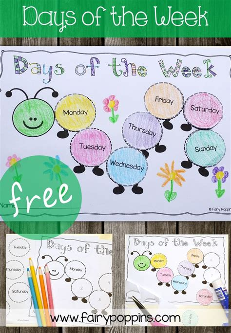 best 25 days of week ideas on days of the