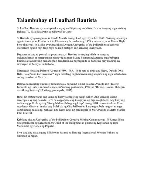 Mga halimbawa ng book report sa filipino