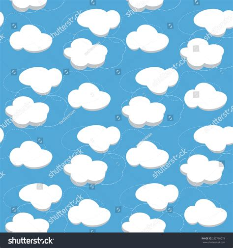 pattern blue sky vector illustration blue sky clouds seamless stock vector