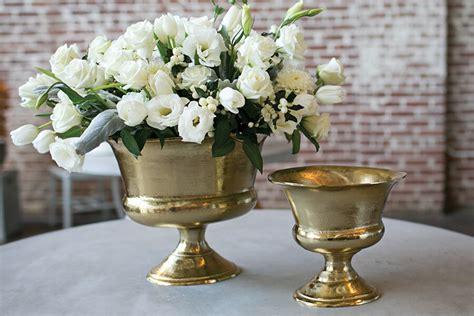 Metal Urn Vase by Gold Metal Prestige Urn 9x8