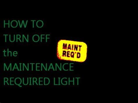 Service Required Light by Resetting Maintenance Light On Toyota Rav4 Autos Post