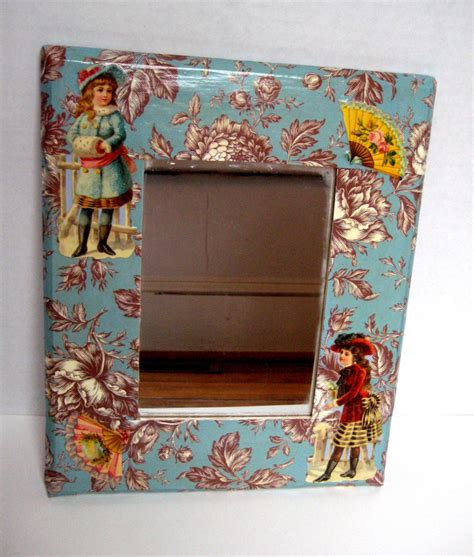 Decoupage Mirror - inspired decoupage mirror