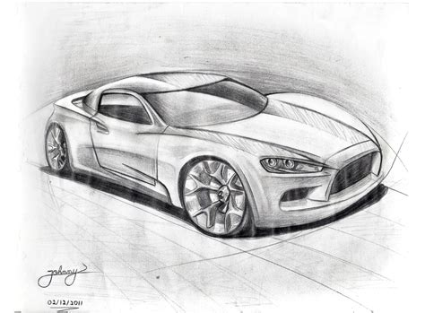 Sketches Of Cars by By Johnny Car Sketch By Johnny Designer On Deviantart