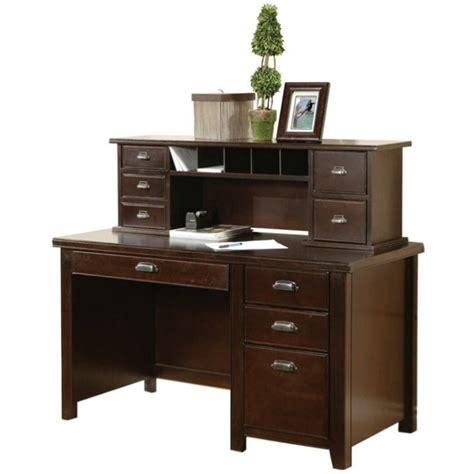 Tribeca Computer Desk Kathy Ireland Home By Martin Tribeca Loft Pedestal Desk With Hutch In Cherry Tlc478 Pkg