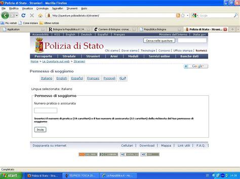 controllo permesso di soggiorno permesso di soggiorno con un clic si potr 224 controllare a