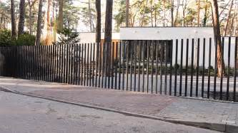 Fancy Trellis Fencing Fancy Fences Feature Retractable Gates That Disappear Into