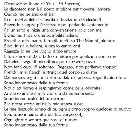 testo pictures of you shape of you di ed sheeran traduzione testo e audio