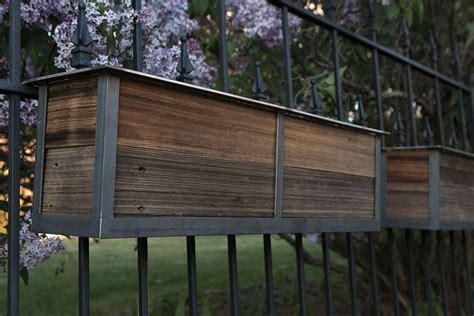 planters for deck rails modern railing planters custom by rushton