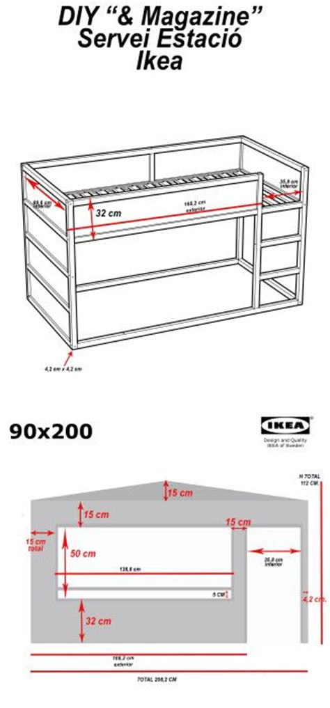 kura bed dimensions diy wood house with kura beds ikea hackers for the
