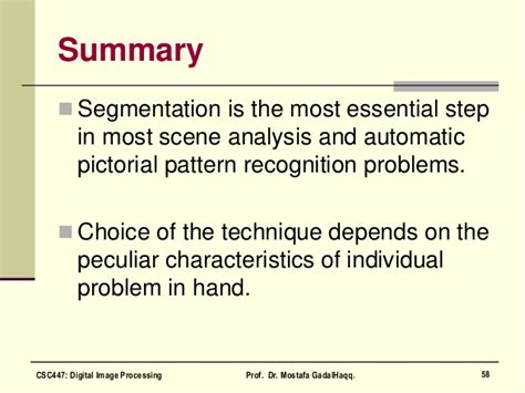 pattern analysis segmentation digital image processing image segmentation