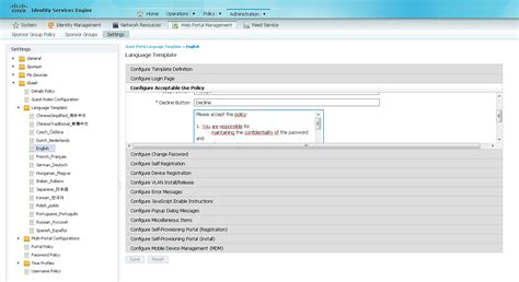 wifi acceptable use policy template solved ise custom aup for guest wireless cisco support