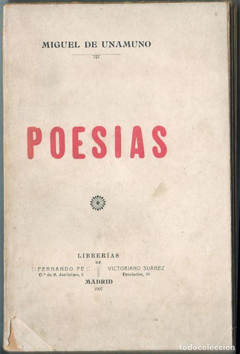 miguel de unamuno novelas poes 237 as miguel de unamuno bilbao 1907 comprar libros antiguos de poes 237 a en todocoleccion