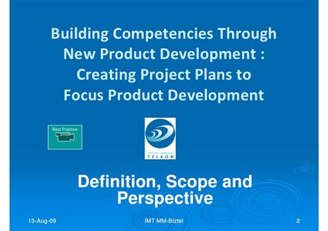 Imt Lecture Creating Project Plans To Focus Product | imt lecture creating project plans to focus product