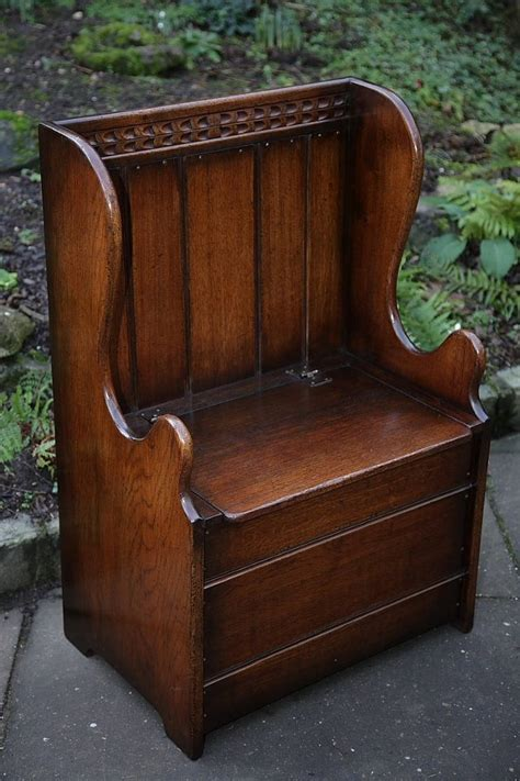 settle bench for sale titchmarsh and goodwin solid oak box settle monks bench