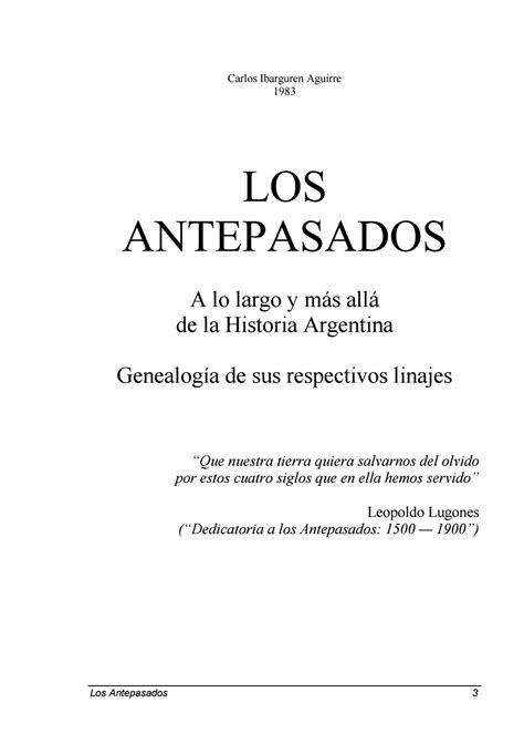 Los Antepasados, a lo largo y más allá de la historia