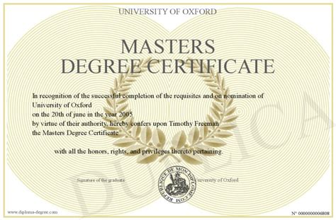 Masters Degree In Security And Mba by Masters Degree Certificate