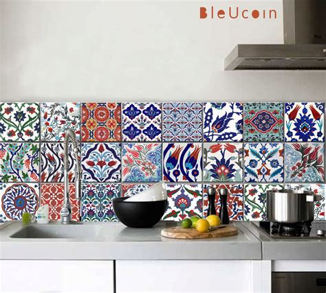 Tile Stickers For Kitchen by Kitchen Bathroom Turkish Tile Wall Decals 22designs X 2
