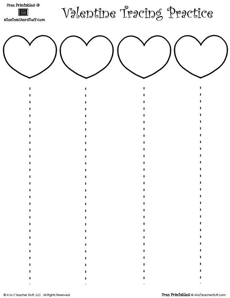 free printable cutting worksheets for preschool valentine s day heart cutting practice with straight lines